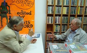 Alan with comics historian Derek Marsden.