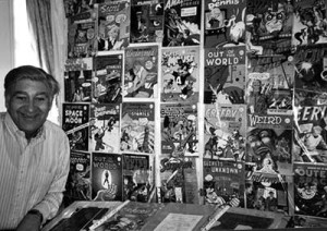 Alan Class with a selection of the reprints he published
